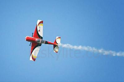 Flying a smoke muffler