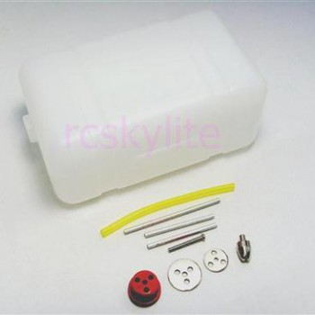 Fuel tank with tubing and accessories
