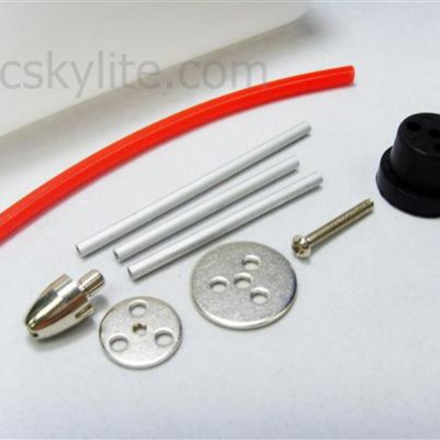 Rubber stopper, clunk, pipes and accessories