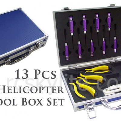 13 Pcs Helicopter Tools Box Set with An Aluminum Case