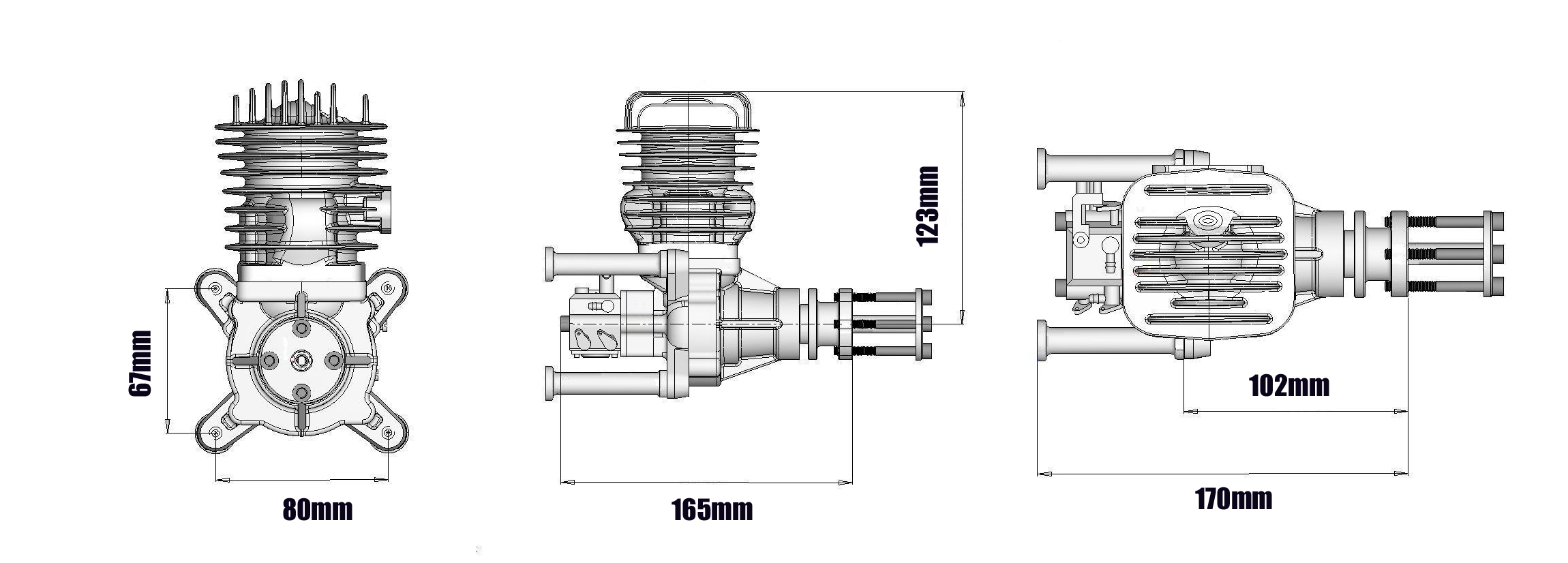 Dle55 55cc Rc Plane Gas Engine